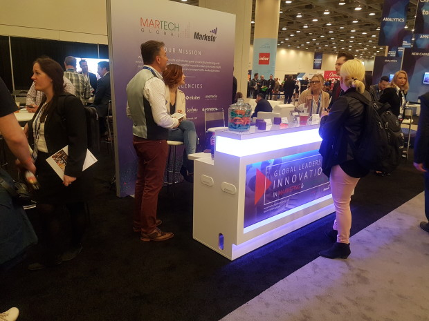 El stand de MarTech Global en el Marketing Nation Summit 2017 de Marketo